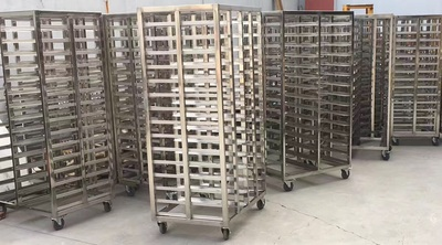 Stainless steel drying layer rack trolley HR-DT-01