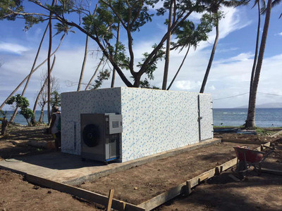 THE SEA CUCUMBER DRYER PROJECT IN FIJI ISLAND.